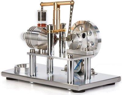 Sunnytech Hot Air Stirling 發動機模型教育玩具發電機多彩LED SC (SC02M) 熱導流