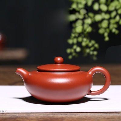 【可馨小屋】宜興紫砂壺純手工正宗名家原礦大紅袍仿古靜曉家用泡茶壺