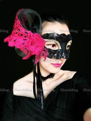 [PROP-H_00195] 華麗孔雀刺繡蕾絲化妝舞會派對名媛面具萬聖節時