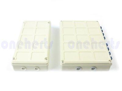 高級 ABS 12口塑鋼壁掛式光纖終端盒 全配 可以搭配SC FC LC耦合器及豬尾巴 12路終端盒 末端盒 光纖盒