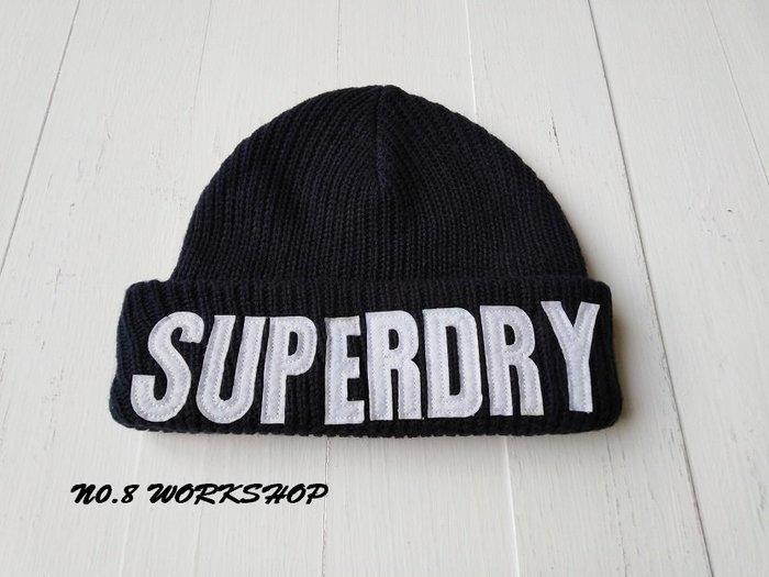 T☆【SD帽子館】☆【100%全新真品SUPERDRY拼布字體毛帽】☆【SDH005A5】