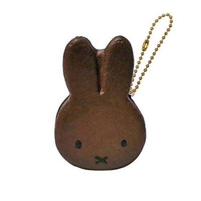 含稅 日本正版 米飛兔 Miffy 巧克力款 甜點 捏捏吊飾 美食 吊飾 擺飾 捏捏樂 軟軟【612007】