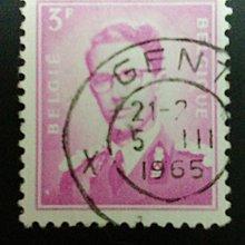 比利時國王像實寄票(1960年代)       N003