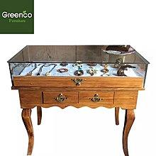 GR201837- 松木製古典型展示枱櫃。尺寸:80 x 40 x 90cm H