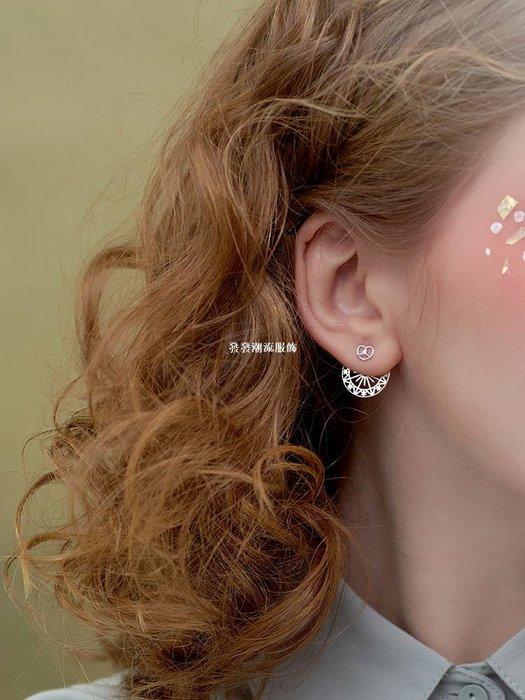 發發潮流服飾@小麋人 可愛精致復古刻花星星太陽甜甜圈S925純銀耳釘多種戴法女