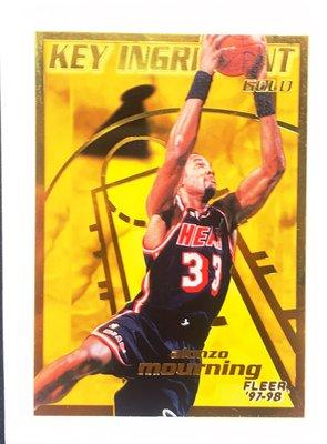 NBA老卡 97 fleer key ingredient gold  (mourning)
