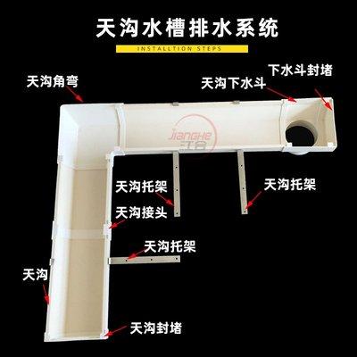 PVC水槽天溝雨水槽落水接水管配件鐵架金屬加厚鍍鋅托架托鉤支架