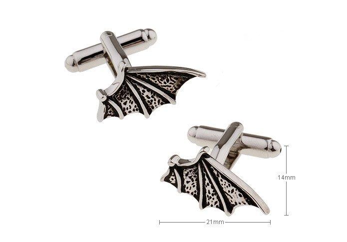 TA精品☆ 男士精品  黑色翅膀造型袖扣 190479