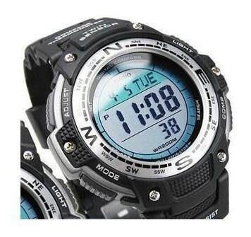 【可開發票】全新 指南針溫度計登山運動戶外男士手表SGW-100-1V SGW-400H-1B[指南针]