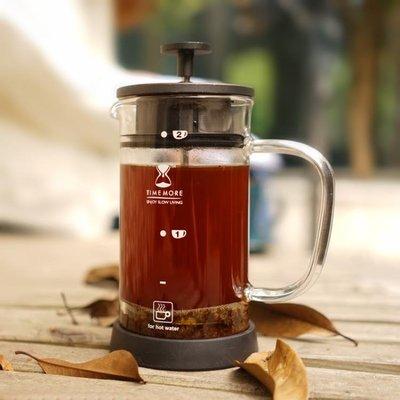 小黑超濾法壓壺雙層濾網法式家用咖啡壺手沖濾壓壺沖茶器