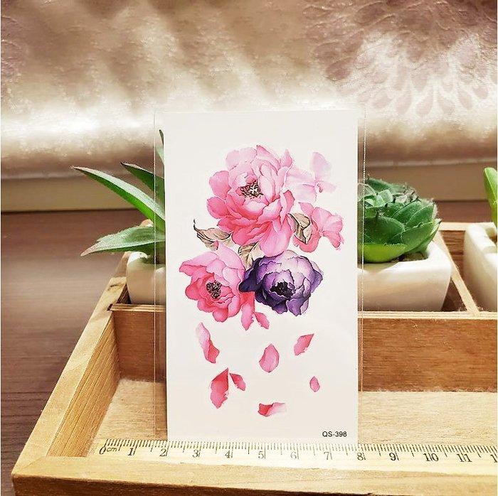 【萌古屋】紛飛花瓣 - 男女防水紋身貼紙刺青貼紙QS-398 K12