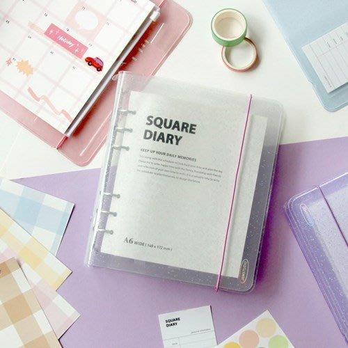 ❅PAVEE❅ 韓國Jamstudio~ Square Diary A6 Wide 光彩閃耀 寬版活頁萬年萬用手冊手帳