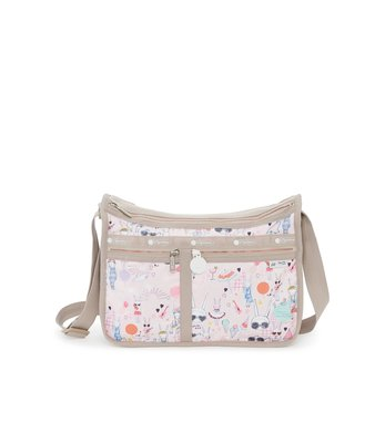 Coco小舖 LeSportsac Deluxe Everyday Bag Fifi Lapin 聯名系列 奢華斜背包