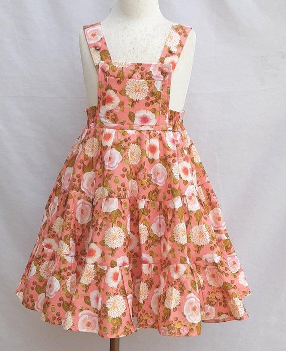 小雅兒童工作室(和服.旗袍)~~手工製作~~~蛋糕式吊帶裙