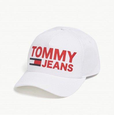 (預購)TOMMY JEANS Flock logo cotton snapback cap 棒球帽(白色區)
