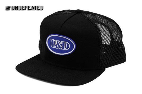 【 超搶手 】全新正品 2012 S/S 夏季最新款 Undefeated U & D Patch Trucker 網帽 黑色