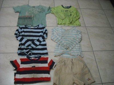 二手童裝出清--上衣+褲子全部共6件--100含運