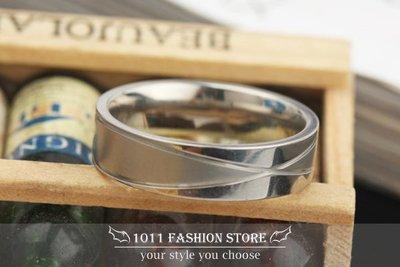 【 1011 精品小舖 】韓國 男性 女性 西德鋼 / 鈦鋼 交叉紋 鋼戒 戒指 低調奢華上市 郵寄免運 jz143
