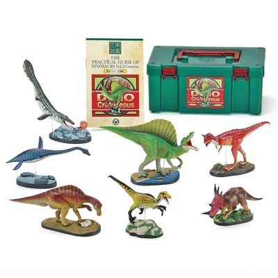 日本正版 立體圖鑑擬真模型BOX 白堊紀恐龍2 7種組 小模型 小公仔 日本代購