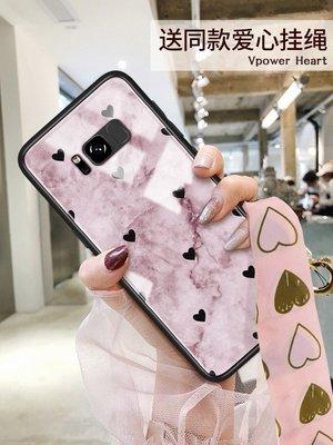 三星s8手機殼s10+保護套女新玻璃s9plus硅膠s9全新包s8+高檔時尚紫色