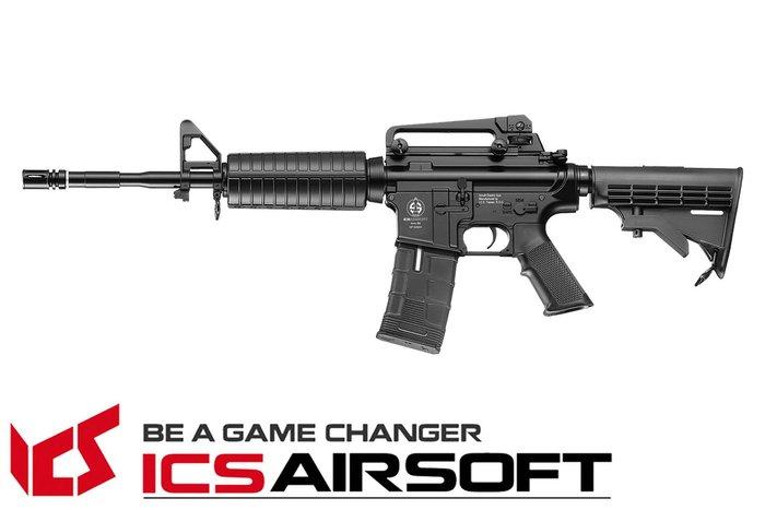 【翔準軍品AOG】ICS CS4A1(黑)伸縮托 電動槍 全金屬 生存遊戲 ICS-20
