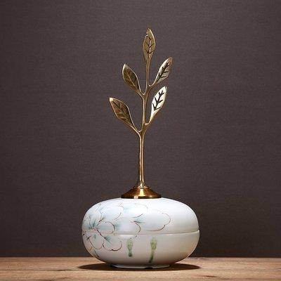 〖洋碼頭〗歐式明清古典復古陶瓷儲物罐裝飾創意擺件 手繪印花古銅小號擺設 ysh225