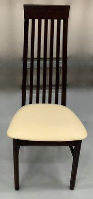 台中二手家具 大里宏品二手家具館 F112619*實木皮餐椅* 二手各式桌椅 中古辦公家具買賣 會議桌椅 辦公桌椅
