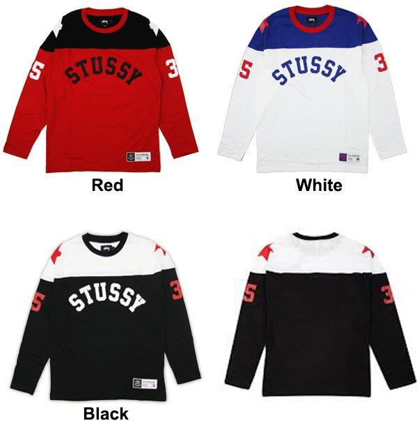 【超搶手】 全新正品 最新 STUSSY STAR HOCKEY JERSEY 星芒 曲棍球 長袖球衣 S M L XL