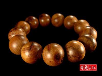 ﹣﹦≡|璟藏古玩|台灣三峽肖楠木瘤珠16.5mm手串(手鍊)∥(直購價,不設底價,只給第一標)∥≡﹦﹣