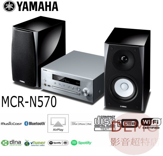 ㊑DEMO影音超特店㍿日本YAMAHA MCR-N570 CD 藍芽 USB 床頭音響
