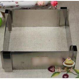 【蛋糕圈-正方長方形-不銹鋼-活動帶刻度-6~12寸】 可做正方也可做長方形 慕斯圈模具 製作蛋糕用具-8001002