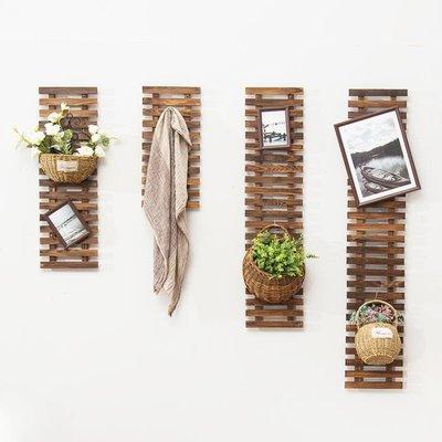 花架家用客廳簡約室內實木牆上壁掛式陽台...