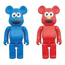 全新 未開封 Medicom Bearbrick 400% Sesame Street Elmo & Cookie Monster 芝麻街 Be@rbrick