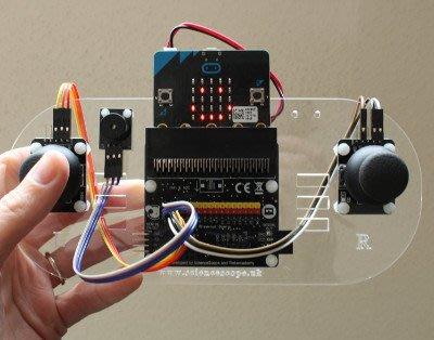 micro:bit 無線遙控把手 GVS Controller Kit 附tinkercademy擴充板