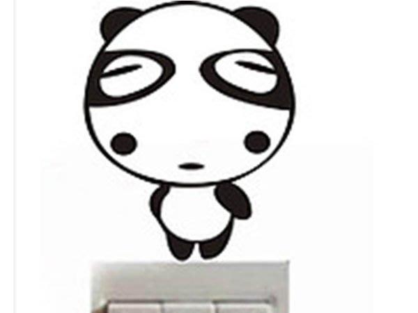 壁貼工場-可超取 小號壁貼 牆貼 貼紙 開關貼- 組合貼 HK365  熊貓眼