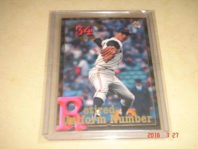 日本職棒 巨人隊 金田正一 2001 BBM #534 Retired Uniform Number 永久欠番球員卡