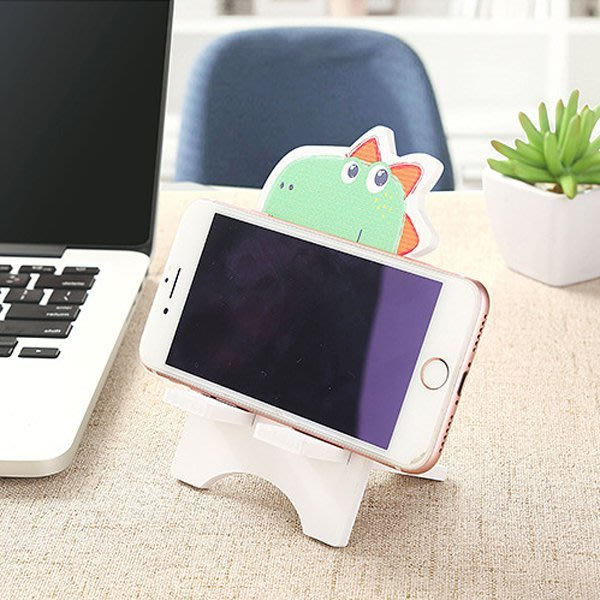《Jami Honey》【JD1424】DIY恐龍熊貓兔子木塑板手機支架