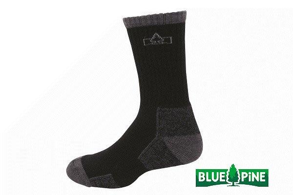 (登山屋) BLUE PINE 美麗諾羊毛襪 型號:B61720 黑