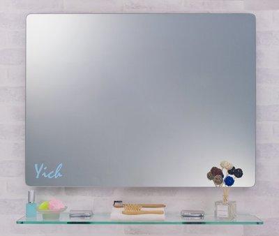 『MUFFEN沐雰衛浴』YM-021 80*60cm 圓角流線造型 無除霧鏡/衛浴鏡 訂製 台灣製造 附無護欄平台