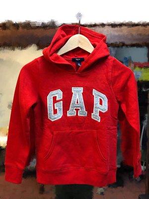 ☆瘋米國衣舖☆ GAP kids 紅色 男女童連帽外套 大logo 童裝 冬季 長袖 帽T 美國帶回 保證真品