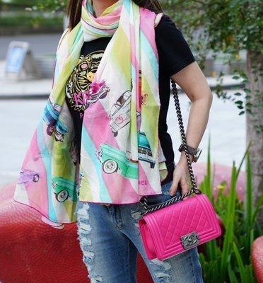 Chanel A55239 Stole 大型披肩 彩虹 CC 現貨