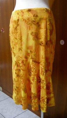 二手) SHY YA 橘黃色花卉A字裙(G104)