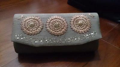 People tree fair trade 手工縫製 花朵圖案 手拿 手提 兩用包