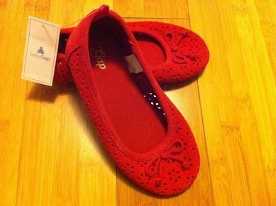 全新正品 BABY GAP 小女生 女童鞋 娃娃鞋 平底鞋 6-12m  8號   (2色)