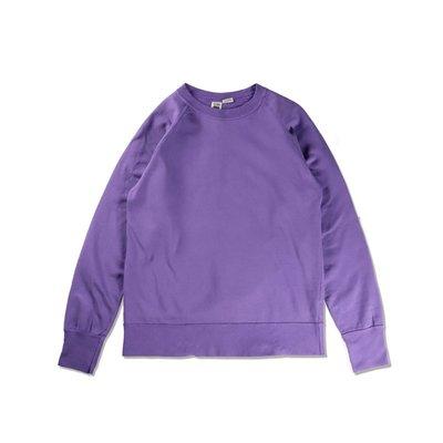 Freaky House-日本Riding High Raglan Sweat重度水洗圓領衛衣煙紫色