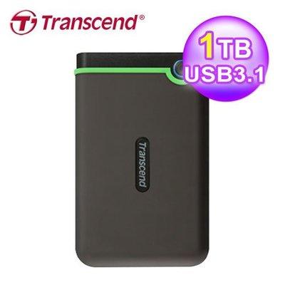 創見 Transcend 1TB 超薄款 軍規防震外接式硬碟 USB3.1 Gen 1/ 3.0 TS1TSJ25M3S
