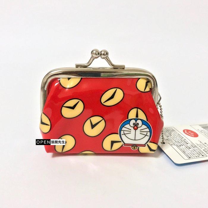 【張開先生】日本帶回 哆啦a夢 Doraemon 珠扣迷你零錢包-時光包巾