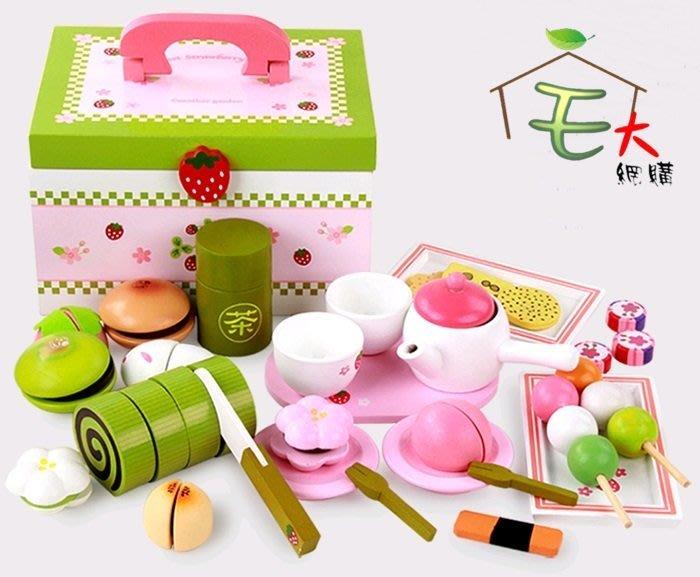 【阿LIN】193569 下午茶 木綠盒 切切樂 兒童切切樂 伴家家酒 切切看 仿真玩具日式蛋糕 日式糕點