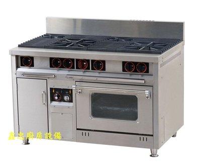 鑫忠廚房設備-餐飲設備:二主二副西餐爐熱風烤箱,賣場有工作檯-冰箱-快速爐-水槽