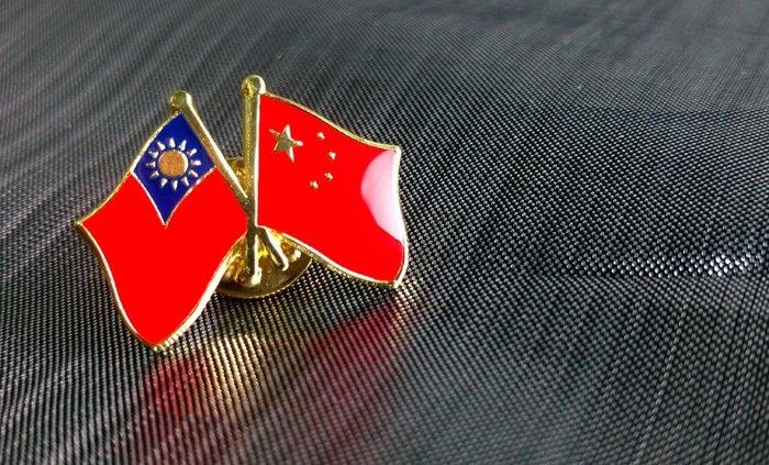 【衝浪小胖】台灣、中國雙旗徽章/胸章/胸針/勳章/中華民國/大陸